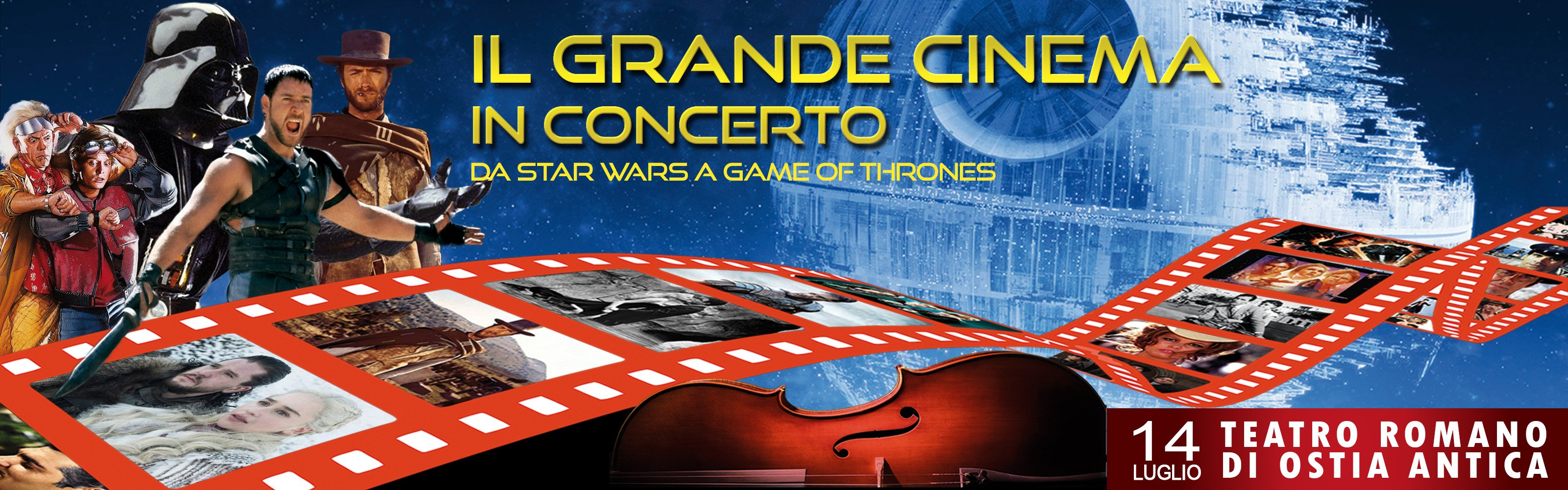 Il grande cinema in concerto Teatro Romano Ostia Antica